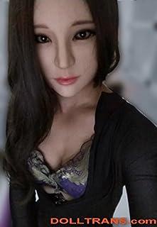 DMS シリコン製 紀香美人女装マスク目無し 目のないシリコーン女性のハーフマスクのりか