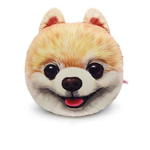 WTT hond decoratief kussen cartoon dier mops pop husky ronde stoel kussen voor geschenk kantoor reis tuin wasbaar woonkamer eetkamer C 40x45 cm (16x18 inch)
