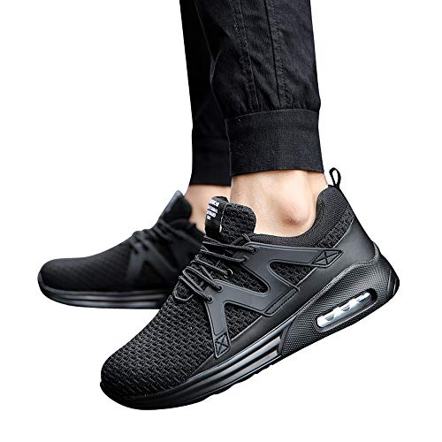 JiaMeng Zapatos para Correr En Montaña Asfalto Deportes Zapatillas Zapatos de Malla al Aire Libre de Encaje Informal hasta Soles cómodos Zapatillas Deportivas Hombre