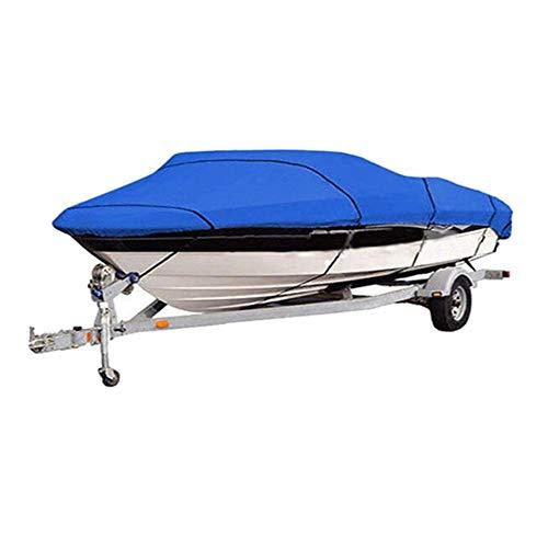 Cubierta De Barco De Esquí De Pesca De Alta Resistencia para 11-13 '14-16' 17-19 '20-22' V-Hull Impermeable A Prueba De Sol UV Protector De Amarre De Barco,11 to 13FT