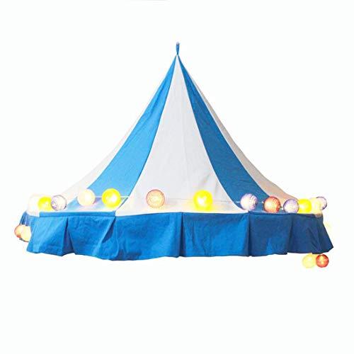 LWKBE Tente pour Enfants Literie Salle de Jeux Chambre de Jouets Art de Chiffon Demi-Lune Tente de lit à baldaquin Tentes avec Rideau de Gaze (Seulement Une Tente),Darkblue