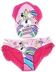 Bañador Minnie Mouse Culetín con Volantes Unicornio + Gorra Disney Minnie Mouse Unicornio de Algodón para Niñas