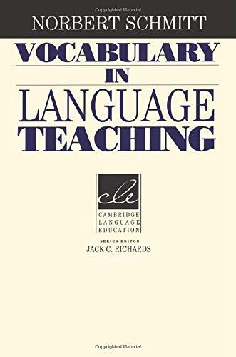 Vocabulary in Language Teaching (Cambridge Language Education)の詳細を見る