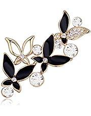 Crystals from Swarovski Bianchi Fiori Pin Spilla18 kt Placcato Oro per Donne