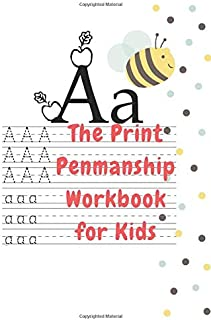 The Print Penmanship Workbook for Kids: Improve Your Handwriting with Fun Animal Facts 110 bage.
