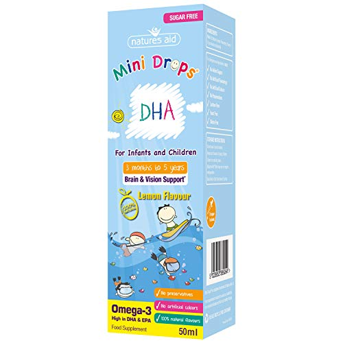 Natures Aid 5023652385054 (3 Months – 5 Years) DHA Mini Drops For Infants & Children 50 ml 50ml