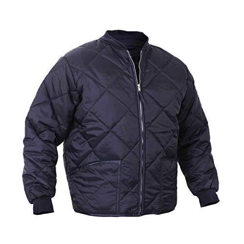 Diamond Quilted Flight Jacket, Navy blue Large