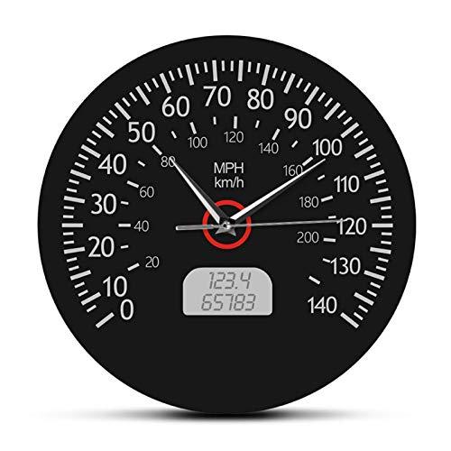 eewopjkj Reloj de Pared velocímetro de Coche Reloj Digital Reloj de Pared Reloj de Pared acrílico de Moda Creativa 30 CM
