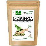 120 Moringa cápsulas 600mg o Moringa Energia Tabs 950mg - Oleifera, vegetariano, Producto de calidad de MoriVeda (1x120 cápsulas)
