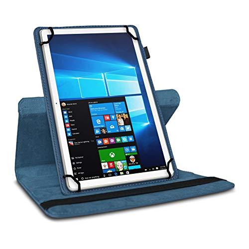 UC-Express Tablet Hülle kompatibel für Odys Space One 10 Tasche Schutzhülle Case Schutz Cover 360 Drehbar 10.1 Zoll, Farbe:Blau