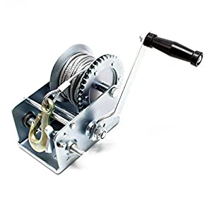 Cabrestante manual hasta 900kg 10m 4:1 8:1 Polipasto manual Torno de cable forestal Fuerza de tracción