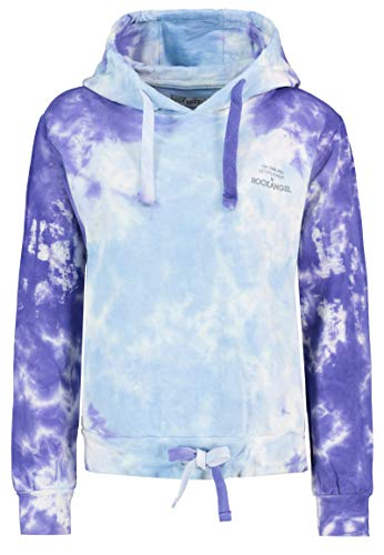 Rock Angel Damen Kapuzen-Pullover in Batik-Optik Blue XS
