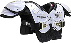 top 10 youth shoulder pads Schutt Sports DS Flex 2.0 Universal Use Soccer Shoulder Pads, White / Gold, Small