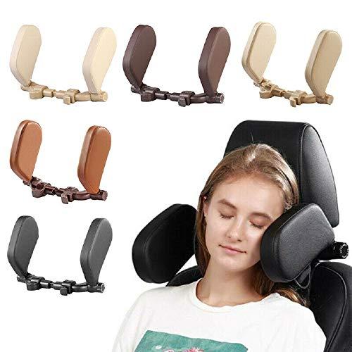Adjustable U-shaped Pillow Car Seat Head Cushion Neck Protect Pillow Head Rest (black)