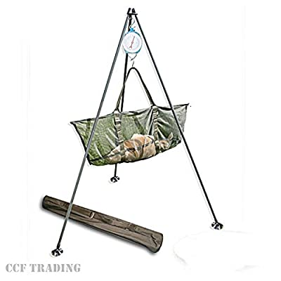 Carp Fishing Weigh Tripod System With Large Mud Feet & Carry Case Ngt