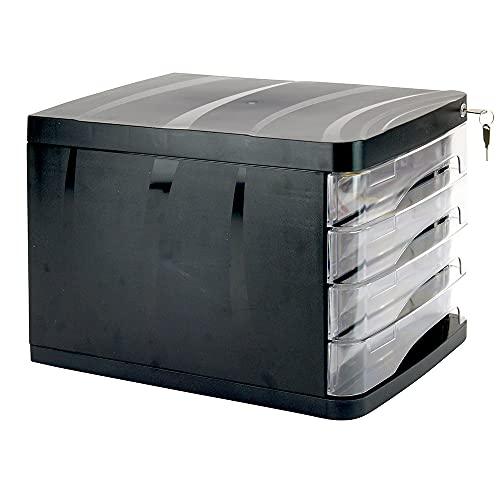 WAYTEX 931052 - Bloque archivador con cerradura (4 cajones, A4, con cerradura)