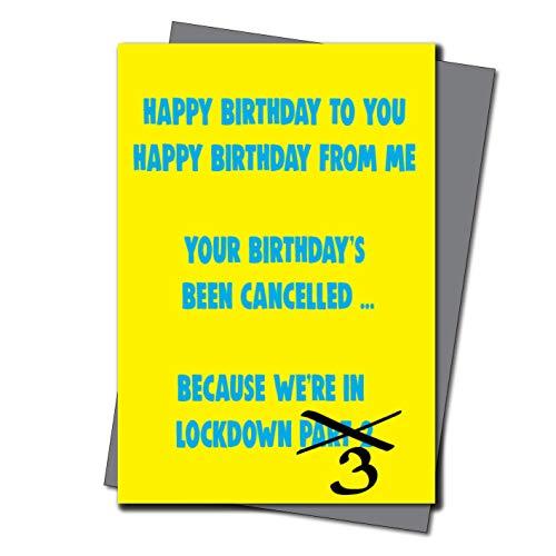 Lockdown Geburtstagskarte, Quarantäne, Selbstisolierung, Geburtstag, für ihn, Freundin, Freund, Ehefrau, Ehemann, lustig, freche Chops Karten – CV41 Lockdown Teil 3