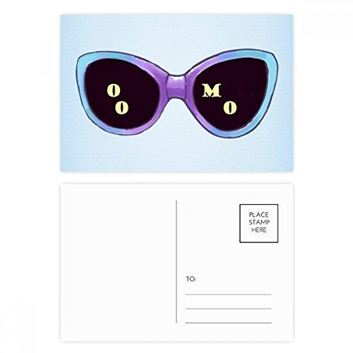 DIYthinker Gekleurde Illustratie Patroon Zonnebril Postkaart Set Verjaardag Thanks Card Mailing Side 20 stks 5.7 inch x 3.8 inch Multi kleuren