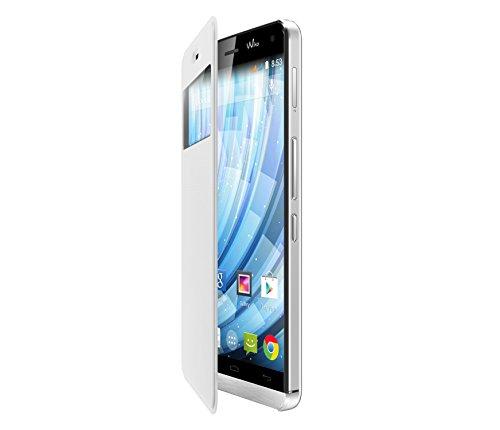 Wiko 93521 Original Flip Cover weiss für Getaway Smartphone