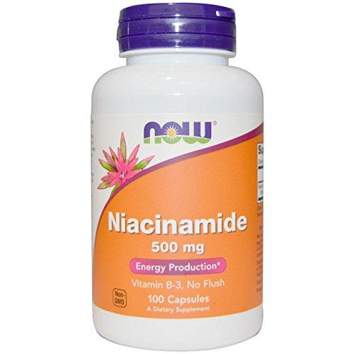 Now Foods, ナイアシンアミド (ビタミンB-3)500 mg 100粒 [並行輸入品]