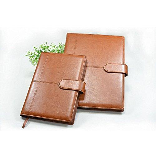 GOZAR 2 Stks B5&A5 Zakelijke Kladblok, Werk Notebook Notebook Met Knopen Pu Leer Kladblok
