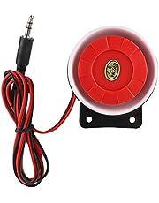 Wired alarmsirene, DC12V 123dB Mini sirene geluidssysteem voor auto, motorfiets, boot