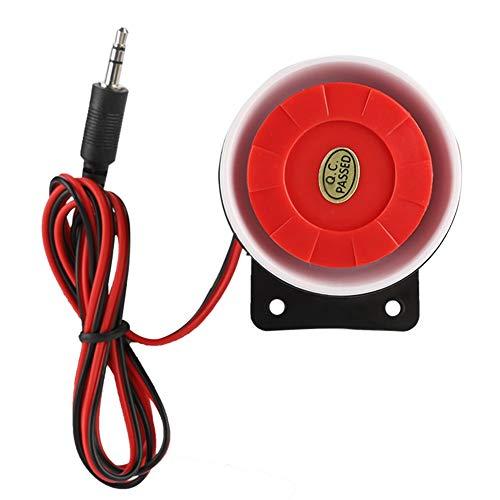 Mini Red Feueralarm,DC 12V Innensirene Wireless Blinkende Sirene Alarm Smart Home Außensirene System
