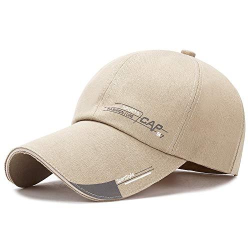 WAZHX Deportes Casuales Sombreros De Béisbol Moda Ajustable Gorras De Algodón Hombre De Baloncesto Sombrero Sombreros Hop Snapback Cap Beigesport
