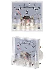 #N/A 2 stuks nauwkeurige wijzertype 0 10A & 0 1A nauwkeurige gelijkstroom ampèremeter ampère meetinstrument