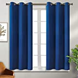 BGment Blackout Curtains - Grommet Thermal Insulated Room Darkening Bedroom and Living Room Curtain, Set of 2 Panels (38 x 54 Inch, Classic Blue)