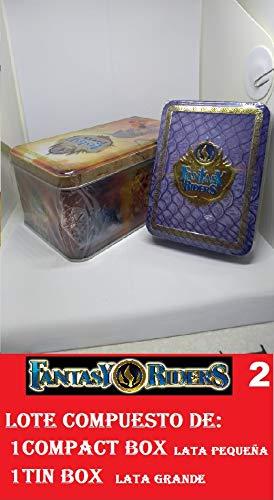 FANTASY RIDERS 2 PANINI Lote de 1 Compact Box mas 1 Tin Box
