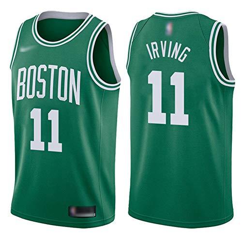 ATI-HSKJ Basketball-Trikots Boston Celtics # 11 Kyrie Irving Fans Männer Basketball Westen Tops Retro Sweatshirt Swingman Jersey Grün BH291,M:170cm~175cm