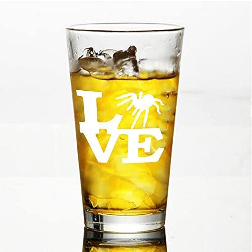 Tarantula Lov - Copa de vino sin tallo, vaso de whisky grabado, perfecto para padre, mamá, niño o amiga