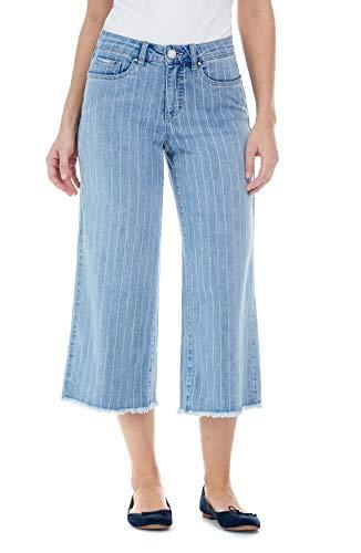 FDJ French Dressing Jeans Olivia Wide Leg Crop with a Frayed Hem Pant, Denim, 10