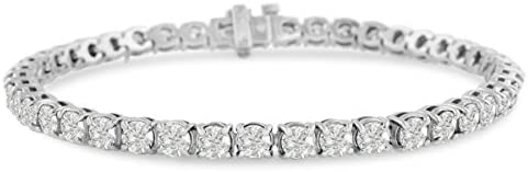 14K White Gold 11 3 4 Carat Diamond Tennis Bracelet 9 Inches Long AGS Certified product image