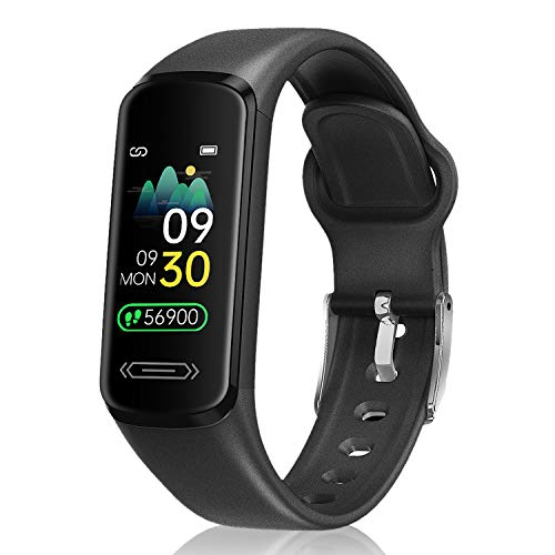 CanMixs Fitness Tracker Watch for Kids Girls Boys Teens,Activity Tracker,HD Color Screen Heart Rate Sleep Monitor,Pedometer,Calorie Counter,Alarm Clock,IP68 Waterproof Sport Digital Watch Women Men