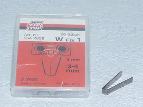 Rema Tip Top Schneidmesser für Rubber Cut 414, 400, W Fix 1 20 Stück, Reifen-Nachschneidmesser, Profilschneidmesser 564285