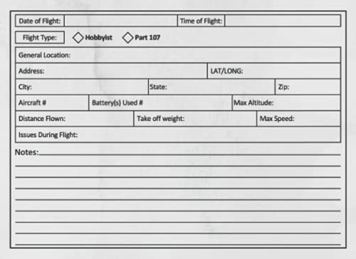 Drone Flight Log Book: UAS Drone Maintenance and Flight Logbook For Professional and Hobbyist