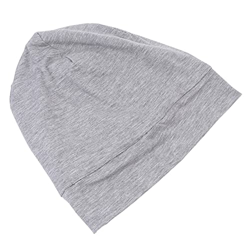 Minkissy Gorra de Noche de Dormir de Satén de Algodón de Banda Ancha Cubierta de Cabeza de Noche Turbantes de Pelo para Mujeres de Belleza de Cabello de Cuidado Del Cabello