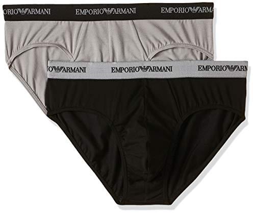 Emporio Armani Underwear - 111321CC717, Intimo da uomo, Multicolore (Nero/Grigio), XX-Large