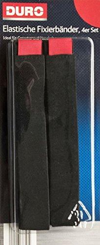 DURO 082017: 4 Elastische Fixierbänder mit Klettverschluss für Haushalt, Camping, Wandern u.a. - á 3 x 50 cm