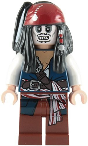 LEGO Piratas Del Caribe: Capitán Jack Sparrow (Skeleton) Minifigura