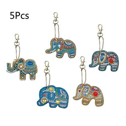 alpscale 1 Set DIY Volledige Boor Speciale Diamant Schilderen Sleutelhanger Uil Tas Hanger Voor Vrouwen Kids Speelgoed Craft Geschenken