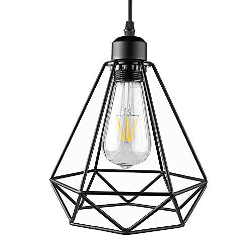 Lámpara Colgante Vintage Metal Luz de Techo Retro Iluminación Araña de Suspensión Industrial Colgante de Luz E27 para...