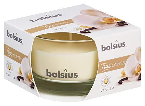 Bolsius True Scents Candela Profumata in Vetro, Cera, Crema, Small