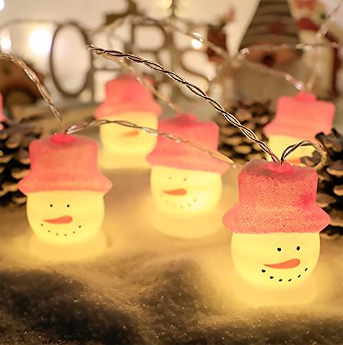 loknhg Tipo de batería de Cadena de lámpara de Papá Noel Siempre Brillante con Luces LED Intermitentes Luces de decoración del árbol de Navidad (sin baterías)