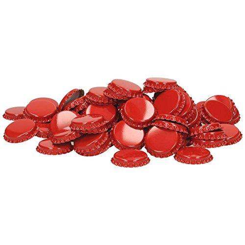 Coronas de corcho (29 mm, inserto espumado, 100 unidades), color rojo