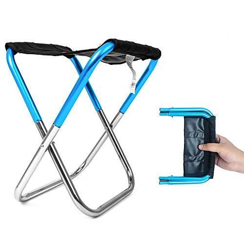 Tragbarer, faltbarer Mini-Hocker, Campingstuhl, ultraleichter Klappstuhl für...