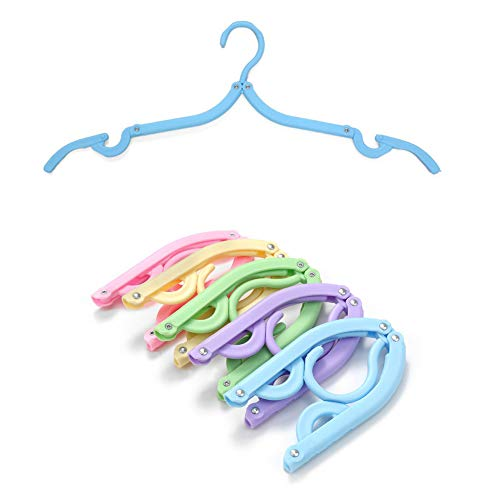Desconocido Coat Hangers Plastic, Folding Plastic Hangers Ideal for Everyday Standard Use, Lightweight Plastic Clothes Hangers for Kids,Baby and Adult