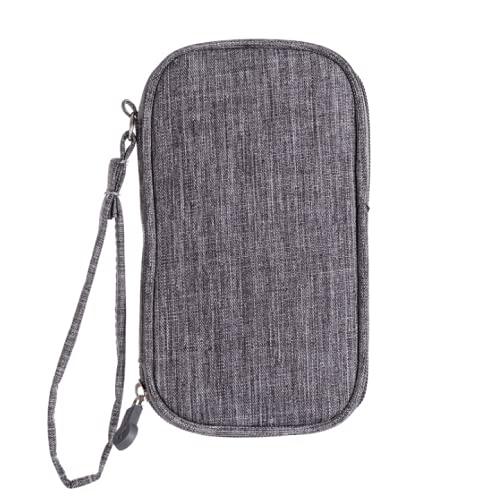 N A Power Bank - Bolsa de almacenamiento portátil para dispositivos de viaje, mini USB Flash Drive Case Accesorios Bolsas de almacenamiento, gris, 18.5x11.5x2.5cm, Moda